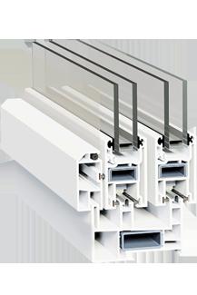 Раздвижная оконная система с москитной сеткой SWS