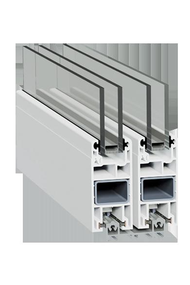 Раздвижная дверная система с алюминиевым порогом SWS