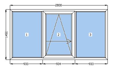 psk балконные рамы 2800х1450